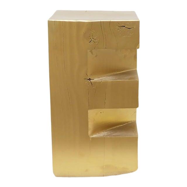 """Custom Wooden Totem """"E"""" Stool For Sale"""