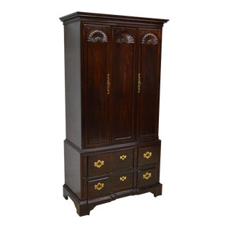 Henredon Mahogany Chippendale Style Armoire For Sale