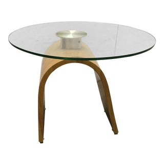 Mid-Century Style Wood & Glass Table