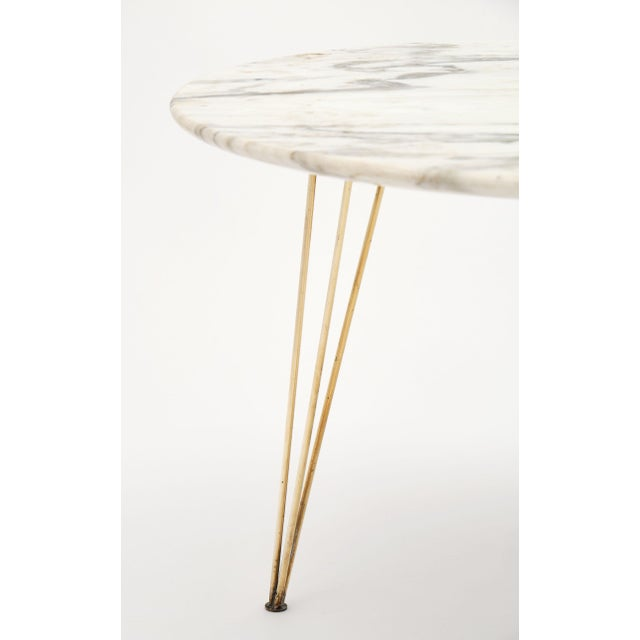 1960s Vintage Mid-Century Italian Marble Top Table For Sale - Image 5 of 10