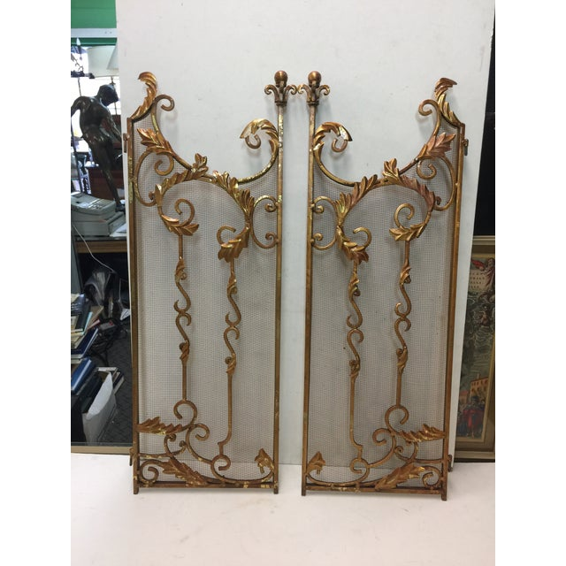 Ornate Fireplace Screen For Sale - Image 5 of 12