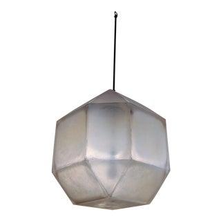 Vintage Geometric White Translucent Acrylic Pendant Lights For Sale