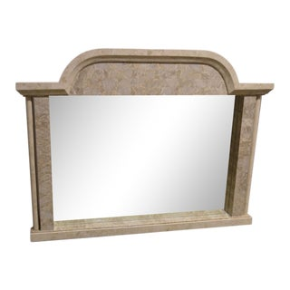 Neoclassic Style Marble Wall Mirror For Sale