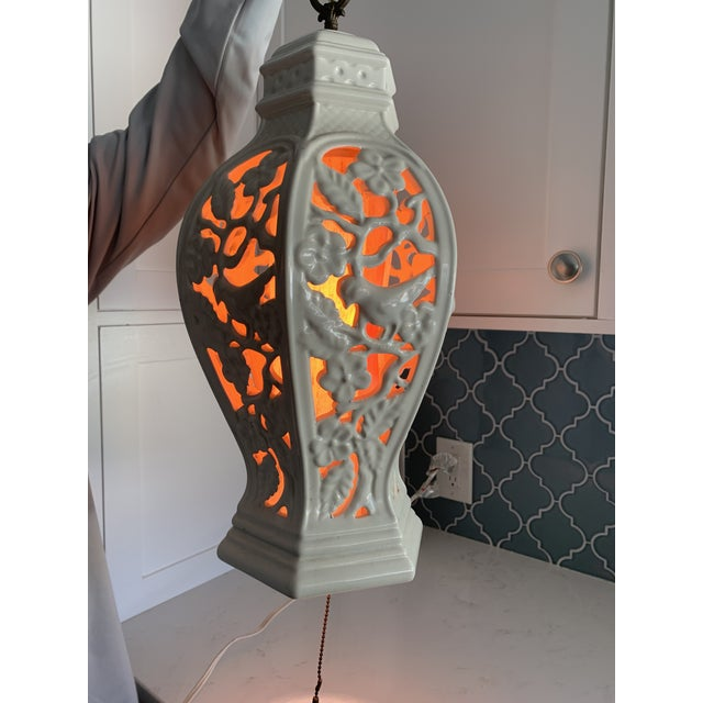Chinoiserie Porcelain Pendant Light For Sale - Image 9 of 12