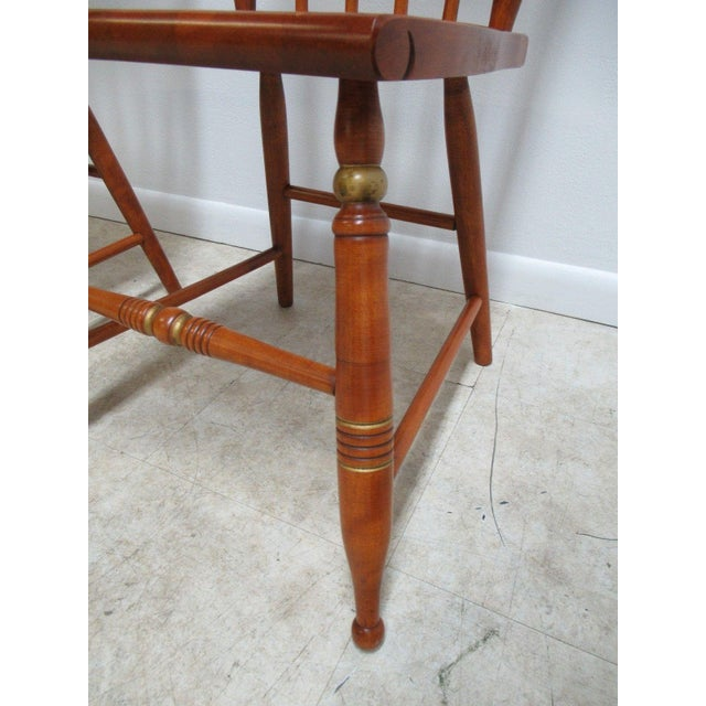 Brown Bent Brothers Plank Bottom Hitchcock Style Dining Chairs - A Pair For Sale - Image 8 of 11