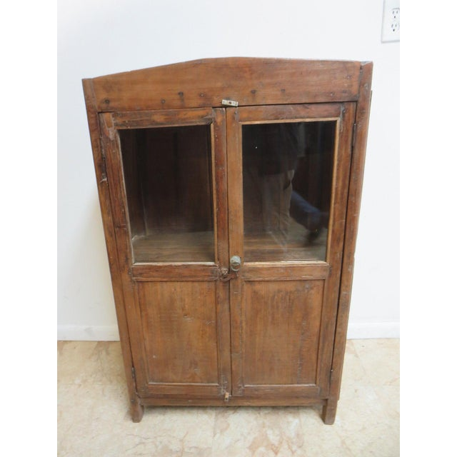 Tight and sturdy ready to use.. This item is a one of a kind. Primitive  Antique Primitive China Cabinet Cupboard ... - Antique Primitive China Cabinet Cupboard Chairish