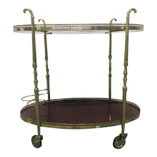 French Brass Bar Cart For Sale