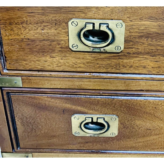Vintage Campaign Dresser by Thomasville For Sale In Chicago - Image 6 of 10
