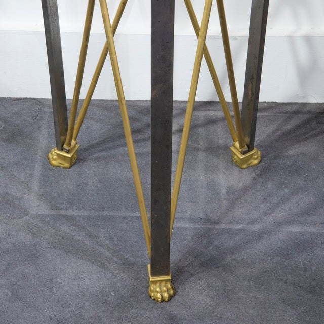 Maison Jansen Brass Stand in Empire Style by Maison Jansen - Circa 1960's For Sale - Image 4 of 5