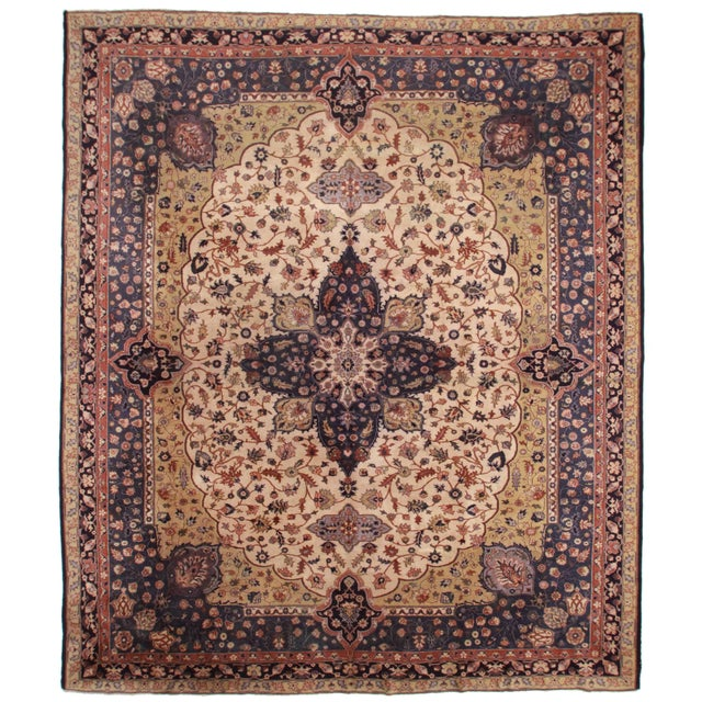RugsinDallas Hand Knotted Wool Turkish Rug - 12′1″ × 14′2″ For Sale