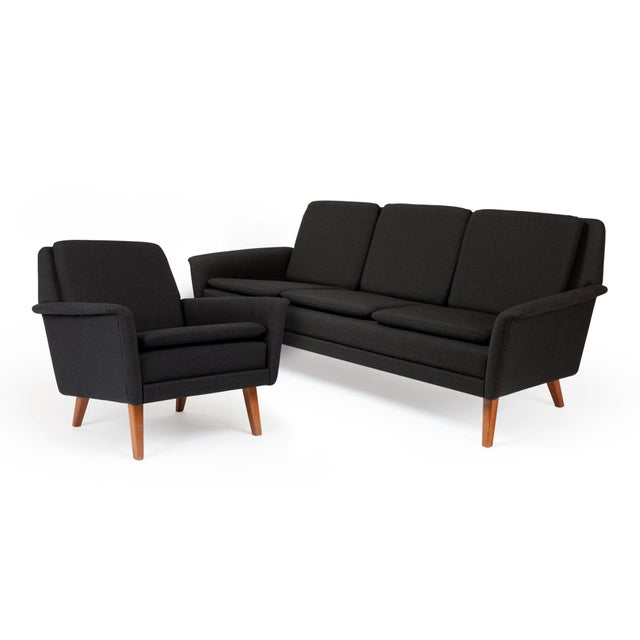 Dux Danish Modern Black Sofa & Lounge Chair - 2 Pc. Set For Sale - Image 13 of 13