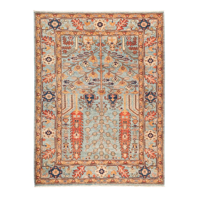 "Serapi Hand Knotted Area Rug - 5' 5"" X 7' 2"" - Image 1 of 4"