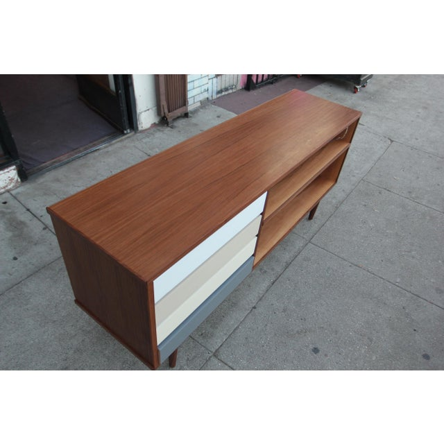 Mid-Century Style Walnut Credenza For Sale - Image 11 of 11