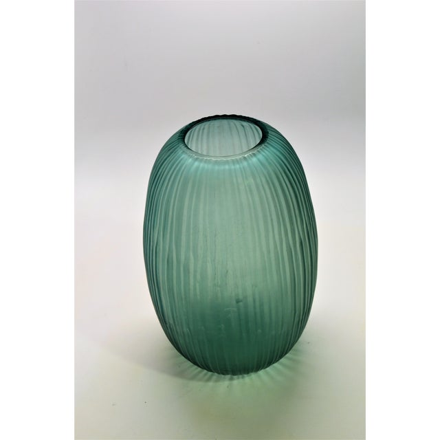 Bungalow 5 Moderni Vase Showroom Sample A single layer of glass is skillfully cut and polished to create channels that...