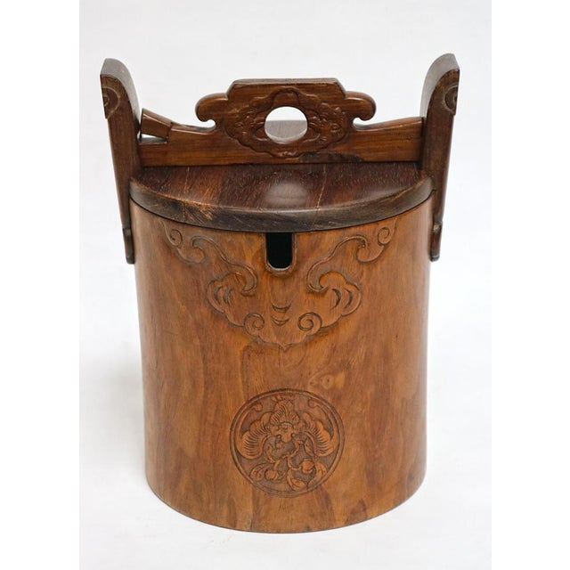 Asian Hardwood Wine Container For Sale - Image 3 of 3
