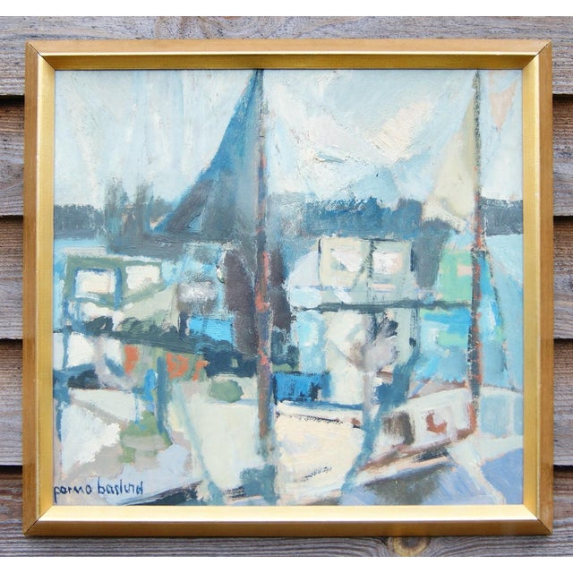 """""""Portscape"""" Painting by Parmo Baslund - Image 2 of 5"""