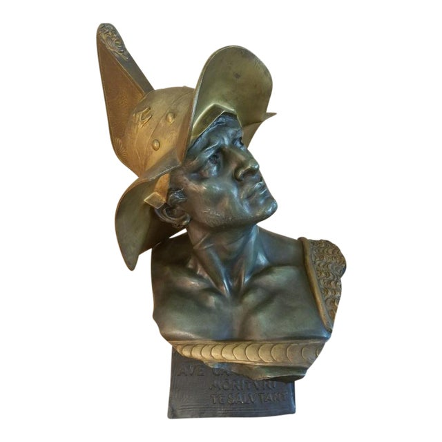 1900s Neoclassical Bust of a Gladiator For Sale