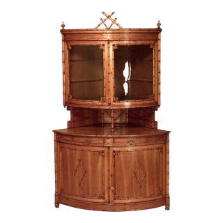French Victorian Maple Corner Cabinet For Sale