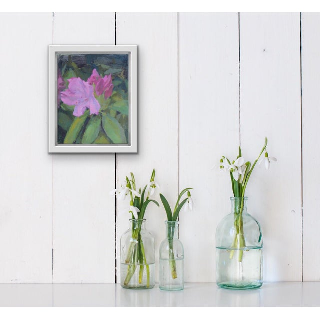 """This is an original oil painting called """"pink rhododendrons. """" The flowers were painted from life and inspired by my..."""