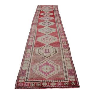 Vintage Turkish Anatolian Wool Runner Rug For Sale