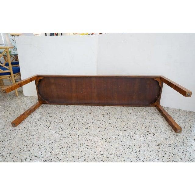 Wood Mid-Century Modern Milo Baughman Burlwood Console Table For Sale - Image 7 of 10