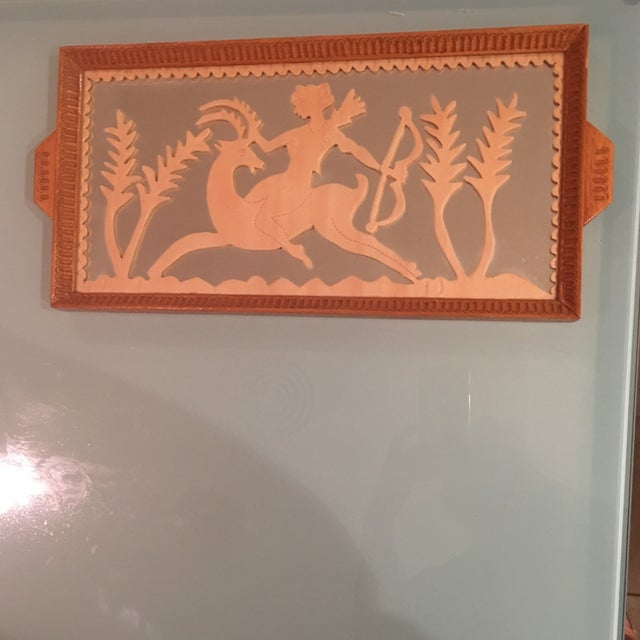 Vintage Art Deco Hand Carved Tray - Image 7 of 7