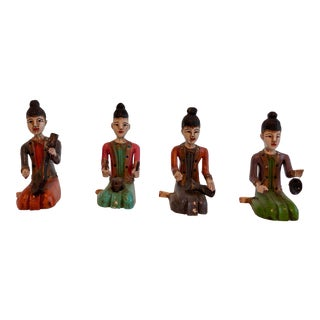 20th Century Figurative Malaysian Musicians - Set of 4 For Sale