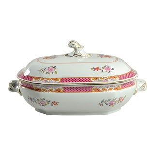 Spode Lord Calvert Pink Oval Covered Server For Sale