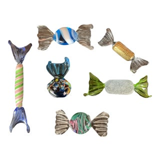 Vintage Murano Glass Candies - Set of 6 For Sale