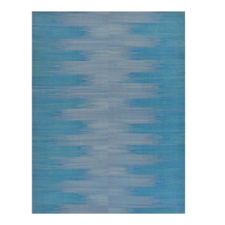 Contemporary Vegetable-Dyed Wool Abstract Flatweave For Sale