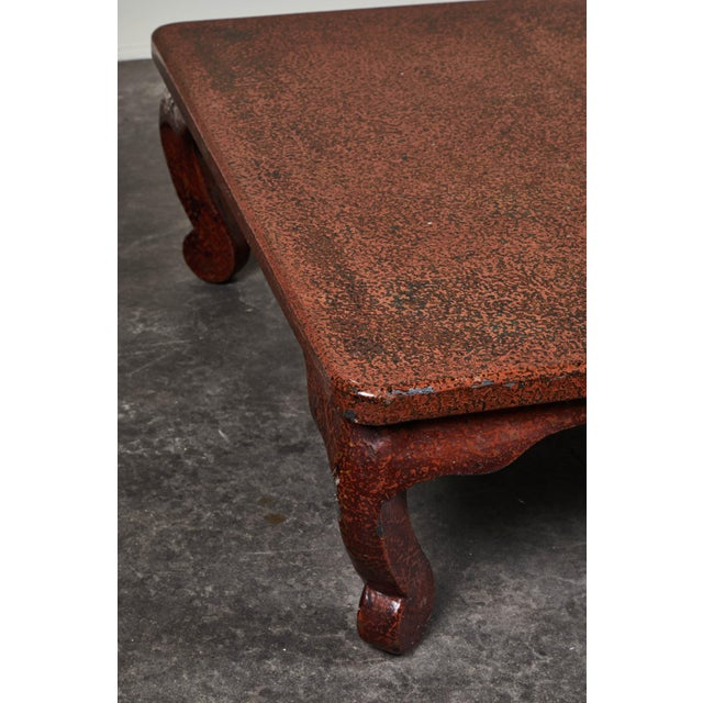 Early 20th Century Early 20th C. Japanese Lacquered Low Table For Sale - Image 5 of 10