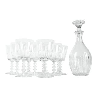 Vintage Baccarat Decanter & Glassware - Set of 13 For Sale