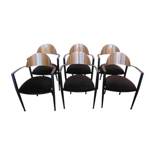 Post Modern Design Dining Chairs - Set of 6 For Sale