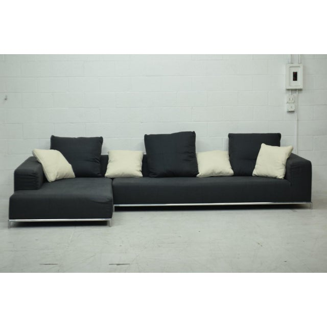 Chrome 21st Century Antonio Citterio for B&b Italia Two-Piece George Sectional For Sale - Image 7 of 10