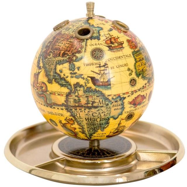 Old World Globe Desk Organizer For Sale - Image 4 of 5