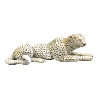 Large Grey Cheetah Figure / Piggy Bank For Sale