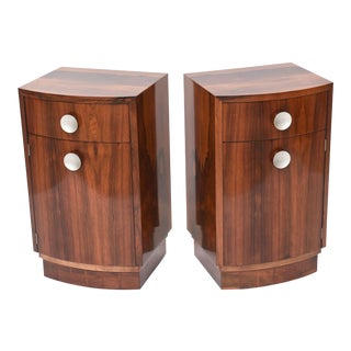 "Pair of American Late Art Deco ""Paldao"" Bedside Cabinets, Gilbert Rohde For Sale"