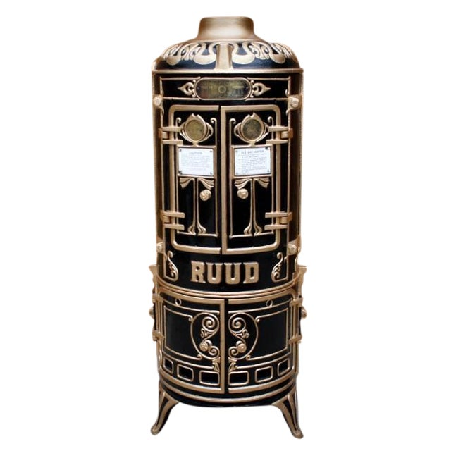 Antique Bar Cabinet with Water Heater Ruud For Sale
