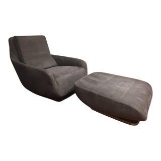 Ligne Roset Shaman Chair and Ottoman - A Pair