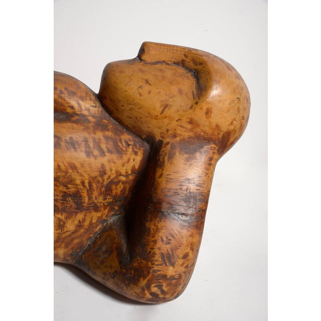 Abstract Achiam Wood Sculpture For Sale - Image 3 of 10
