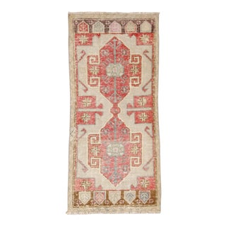 """Old Anatolian Small Mat, 1'9"""" X 3'10"""" For Sale"""