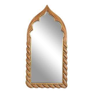 Arabesque Wood Wall Mirror by Drexel For Sale