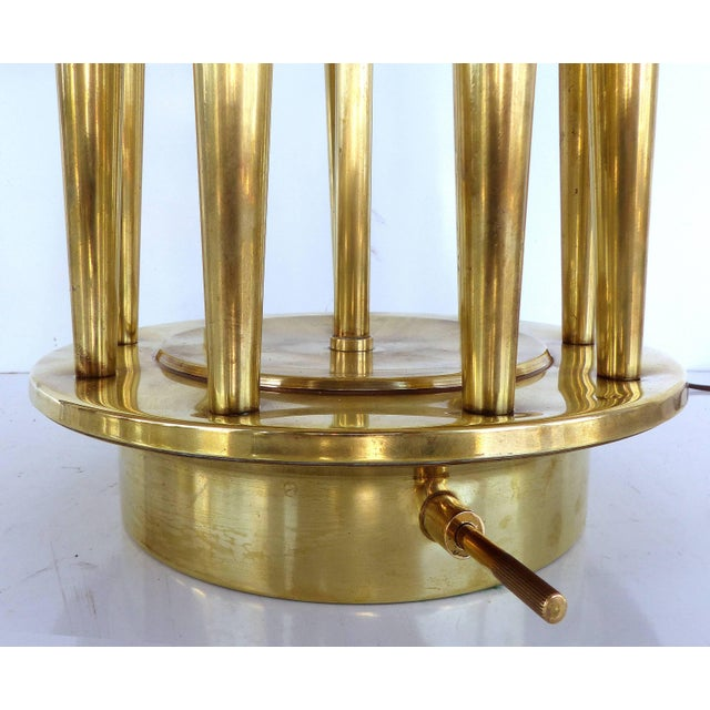 Tommi Parzinger Stiffel Mid-Century Table Lamp A monumental Mid-Century Modern brass table by Tommi Parzinger for Stiffel....