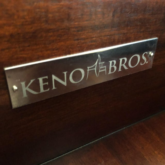 Wood Keno Brothers for Theodore Alexander Mahogany, Fiddleback & Morado Chest For Sale - Image 7 of 13