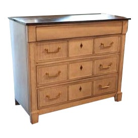 Painted Chest of Drawers With Marble Top (Old Chest/New Paint) For Sale