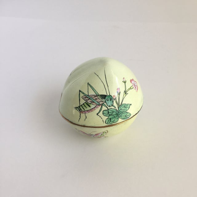 Vintage Hand Painted Dragonfly Enamel Trinket Box For Sale - Image 10 of 10