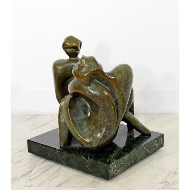 Contemporary Bronze Woman Table Sculpture by Jean Jacques Porret Prologue 2/8 For Sale - Image 9 of 13