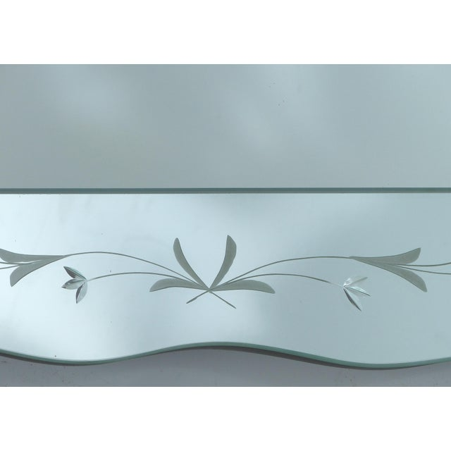 1940's Floral Cut Scalloped Mirror For Sale - Image 4 of 7