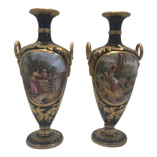 19th Century Royal Worcester Vases - a Pair For Sale