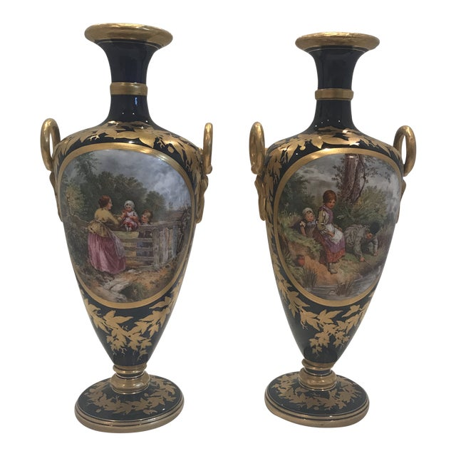 19th Century Royal Worcester Vases A Pair Chairish